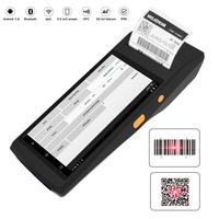 QS POS PDA Printer Handheld Terminal All in one Bluetooth Printer Android 7.0 4G Wifi POS GPS Smart Optional NFC Barcode Scanner