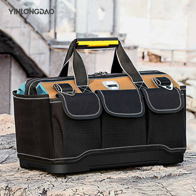 Large Capacity Tool Bag Hardware Organizer Crossbody Belt Men Travel Bags Spanner Toolkit Electrician Carpenter Backpack Handbag