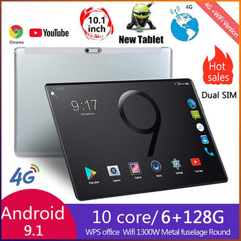 New 10 Inch Tablet PC Octa Core 6GB RAM 128GB ROM 4G LTE GPS Phone Call 2.5D Tempered Glass Google Play Tablet pc 8.0 MP Camera