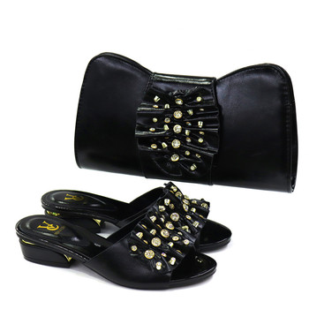 2020 New blue Matching Shoes and Bag Set In Heels African Shoes and Matching Bags Italian Pumps Matching Shoe and Bag Set 9