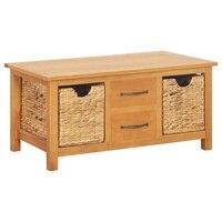 Multifunction Living Room Cabinet Modern Tv Cabinet Room Drawer Solid Oak Sideboard for Kitchen 2 Drawers 2 Removable Cabinets