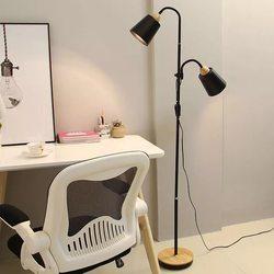 Nordic lâmpada de assoalho madeira simples e27 led ferro forjado personalidade vertical ajustável lâmpadas assoalho para sala estar quarto estudo