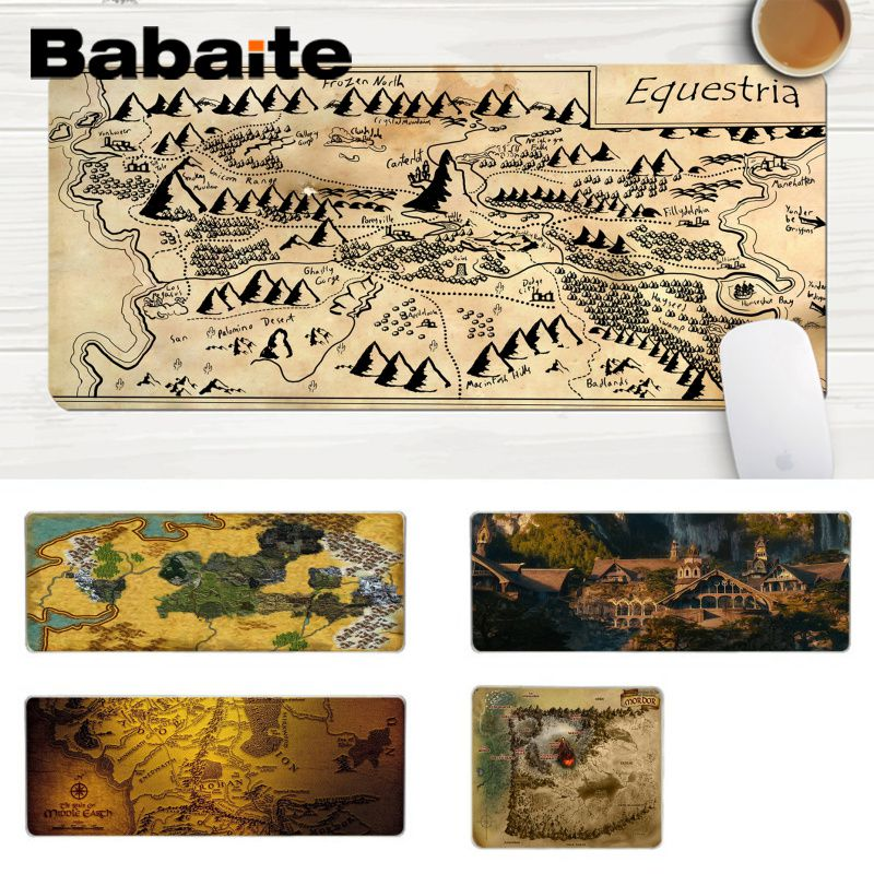 Babaite Mordor Map Shadow Of War High Speed New Mousepad Comfort Mouse Mat Gaming Lockedge Mousepad Gaming Mouse Pad