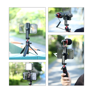 Image 5 - Ulanzi Phone Tripod + Vertical Bracket Smartphone Mount Holder Cold Shoe Phone Clip Clipper Tripod Adapter for iPhone Samsung