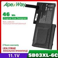 ApexWay 46wh bateria do portátil para Hp EliteBook 820 G1 720 G1 725 G1 HSTNN-LB4T HSTNN-IB4T 716726-421 SB03XL 716726-1C1