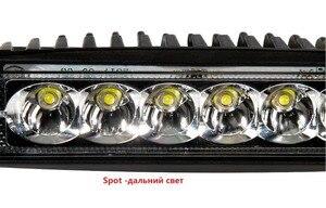 Image 3 - 2 sztuk 18w DRL LED światło robocze 10 30V 4WD 12v dla ciężarówka terenowa autobus łódź lampa przeciwmgielna CarLight montaż ATV jazdy dziennej