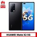 В наличии HUAWEI Mate X2 5G мобильный телефон 8 дюймов в сложенном виде экран OLED Kirin 9000 Octa Core 55 Вт Huawei SuperCharge стандарта NFC для телефона