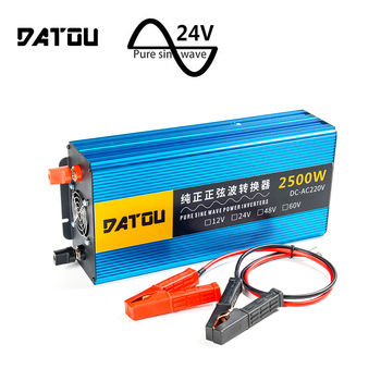 цена на 2500W Pure Sine Wave Inverter 24v to 220v Portable Transformer Car Power Inverter Charger Converter Adapter Auto Parts Inversor