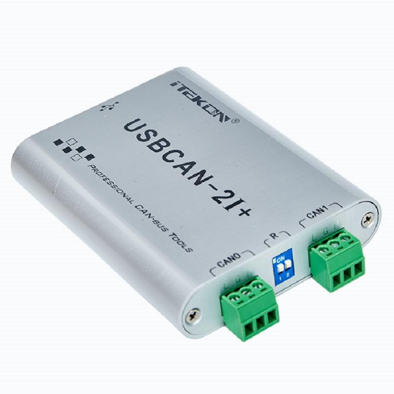 USBCAN analyzer usbcan-2I dual channel isolated CAN box compatible with Zhou Ligong CAN card