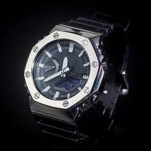 GA2100 bracelet de montre lunette/boîtier pour GA 2100 en acier inoxydable 316L bracelet en métal ceinture en acier avec outils pour homme/femme bracelet de montre GA2100