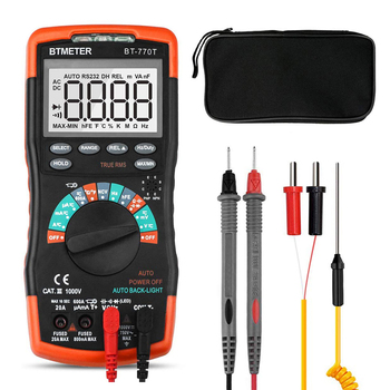 True RMS Digital Multimeter Auto Ranging DMM for AC DC Current 20A,1000V Resistance Capacitance Frequency Electrical Tester fluke 101 auto range digital multimeter for ac dc voltage resistance capacitance and frequency measurement