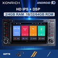 2 Din Android 10 Автомобильный мультимедийный плеер для VW/Volkswagen/Touareg/Transporter T5 2004-2011 Авторадио DVD Automotivo GPS 2G RAMDSP