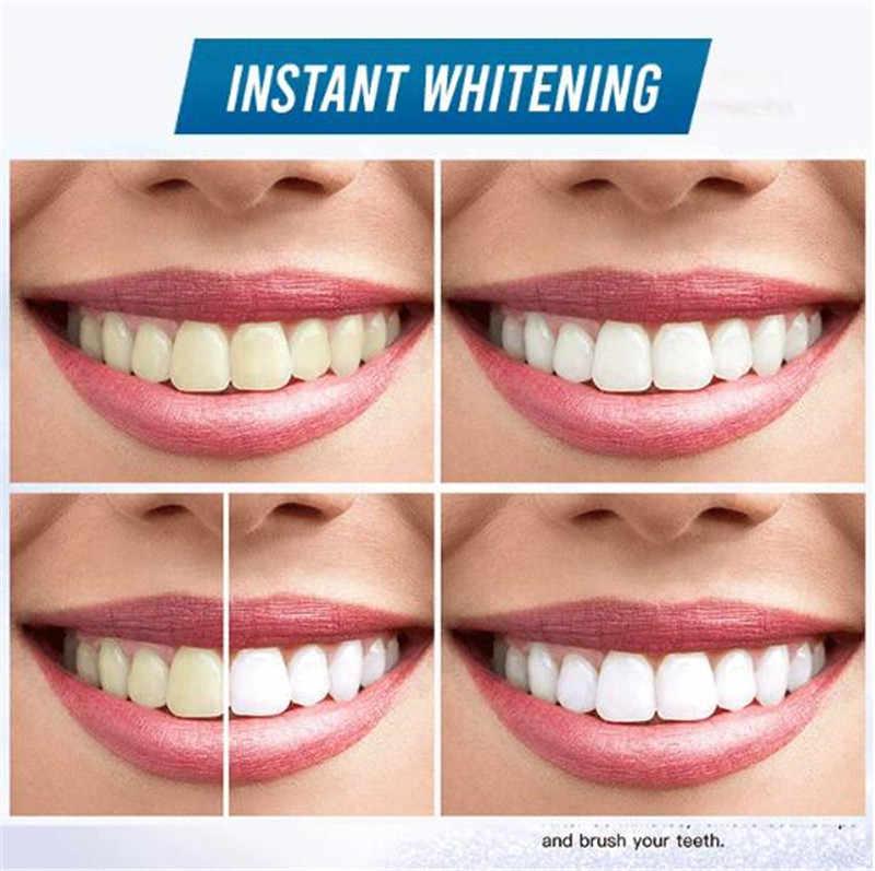 Tiras de blanqueamiento de dientes avanzado, 1 par, eliminación de manchas para higiene limpieza bucal doble elástico, tira decolorante Dental