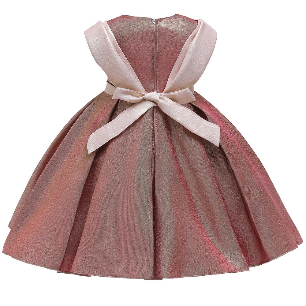 2 Ways Wear Girl Elegant Princess Dress Flower Girl Party Dress For Birthday Kids Girl Ball Gown Wedding Dress 5