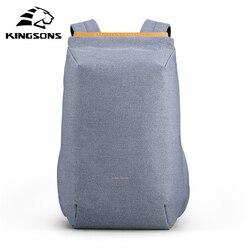 Kingsons, 15,6 дюймов, рюкзаки для ноутбука, подростковая, Мужская школьная сумка, USB подзарядка, многослойная, космическая, дорожная, мужская сумк...