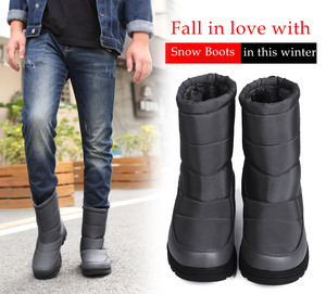 Image 5 - YWEEN Boots Men Snow Boots 2020 New Black Waterproof Men Winter Boots Plush Very Warm Non slip Outdoor Cotton Shoes Footwear