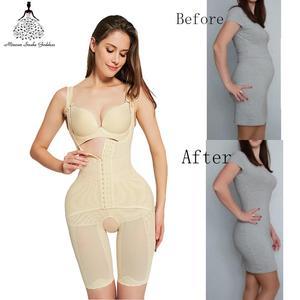 Image 5 - body shaper women waist trainer butt lifter corrective slimming underwear bodysuit Sheath Belly pulling panties corset shapewear