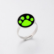 Fashion Jewellery Ladybug Cat Noir Cartoon Noir Green Pawprint Ring men and women Jewelry Christmas Gift(China)