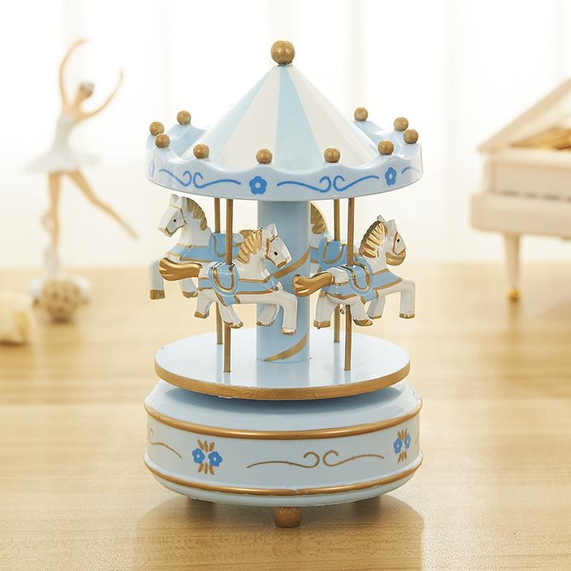 Creative Carousel Music Box Best Friend Small Girl Birthday Gift Musical Box Student Child Boite A Musique Gift Box DJ60YH