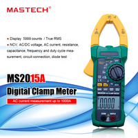 MASTECH MS2015A AutoRange Digital AC 1000A Current Clamp Meter True RMS Multimeter Frequency With Non contact Voltage Detector