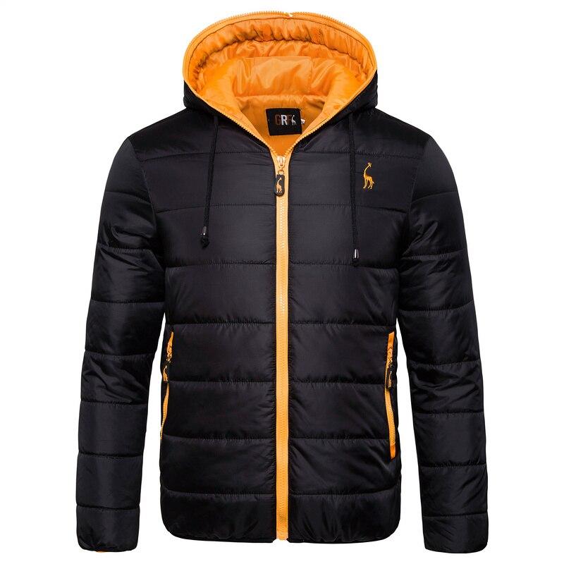 Men's Parkas Jacket Solid Slim Fit Waterproof Coats Autumn Winter Warm Zipper Hooded Parkas Men Fashion Clothes