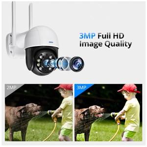 Image 2 - KERUI 야외 방수 무선 3MP 와이파이 IP 카메라 돔 4X PTZ 디지털 줌 IR 카메라 홈 보안 Onvif CCTV 감시
