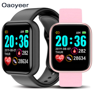 Y68 D20 Smart Watch Waterproof Bluetooth Blood Pressure Fitness Tracker Heart Rate Monitor Smartwatch For Apple IOS Or Android