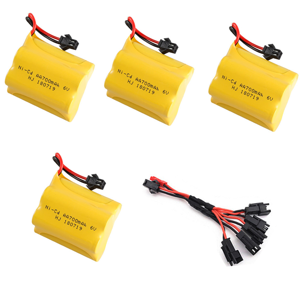 T model 6V NI-CD AA Battery and cable for RC Toy Electric toy security facilities electric toy <font><b>parts</b></font> AA 6 v <font><b>700</b></font> mah battery pack image
