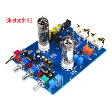 KYYSLB Original NE5532 DC12V2A 4.2 Bluetooth HIFI Preamp 6J5 Home Audio Tube Amplifier Fever Bile Preamp Tone Board 470UF/25V