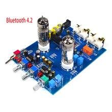 Kyyslb amplificador ne5532 dc12v2a 4.2, bluetooth, hifi, preamp 6j5, casa, tubo de áudio, placa pré-amplificador de fibra ótima, 470uf/25v