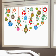 [shijuekongjian] Hang Balls Glass Stickers DIY Mural Decals for House Living Room Kids Restaurant Shop Window Decoration