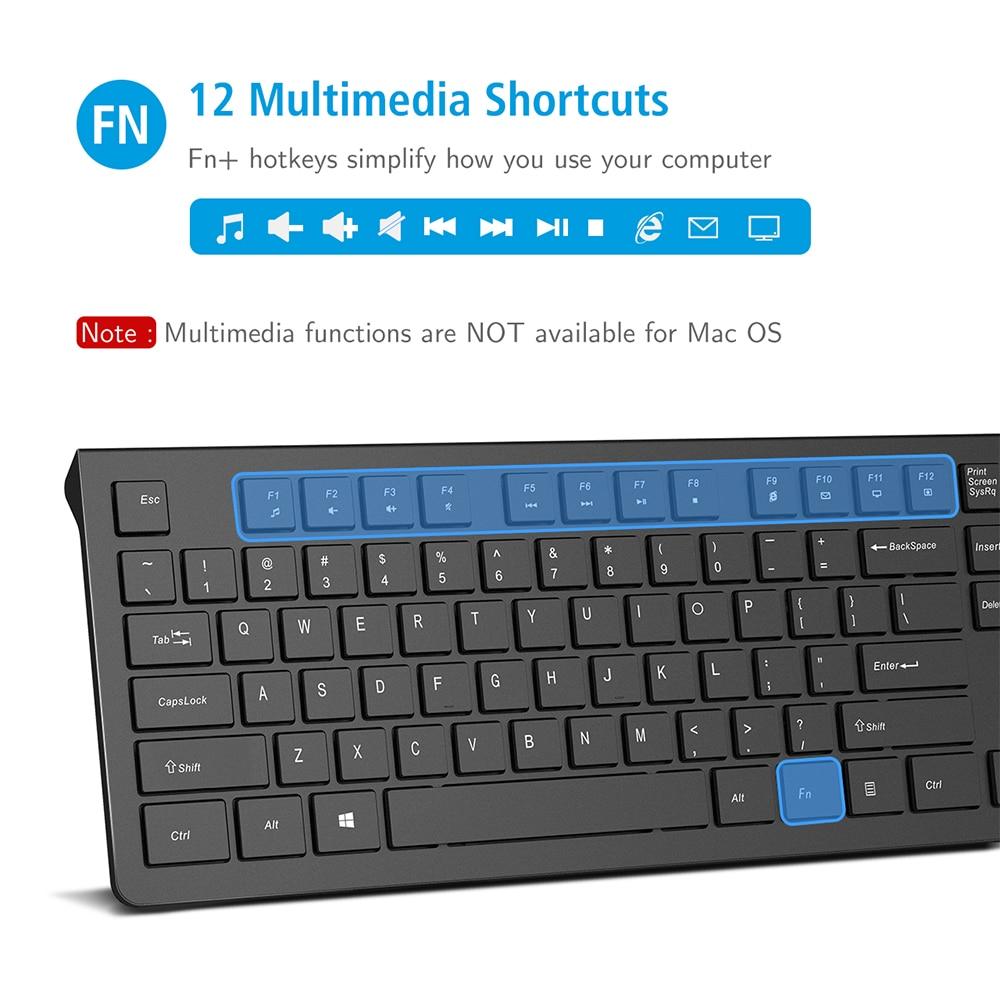 PC206 Wired Keyboard Portable Slim Membrane Chiclet Keyboard 104 Keycaps For Tablet Desktop Laptop PC Computer Keyboard (3)