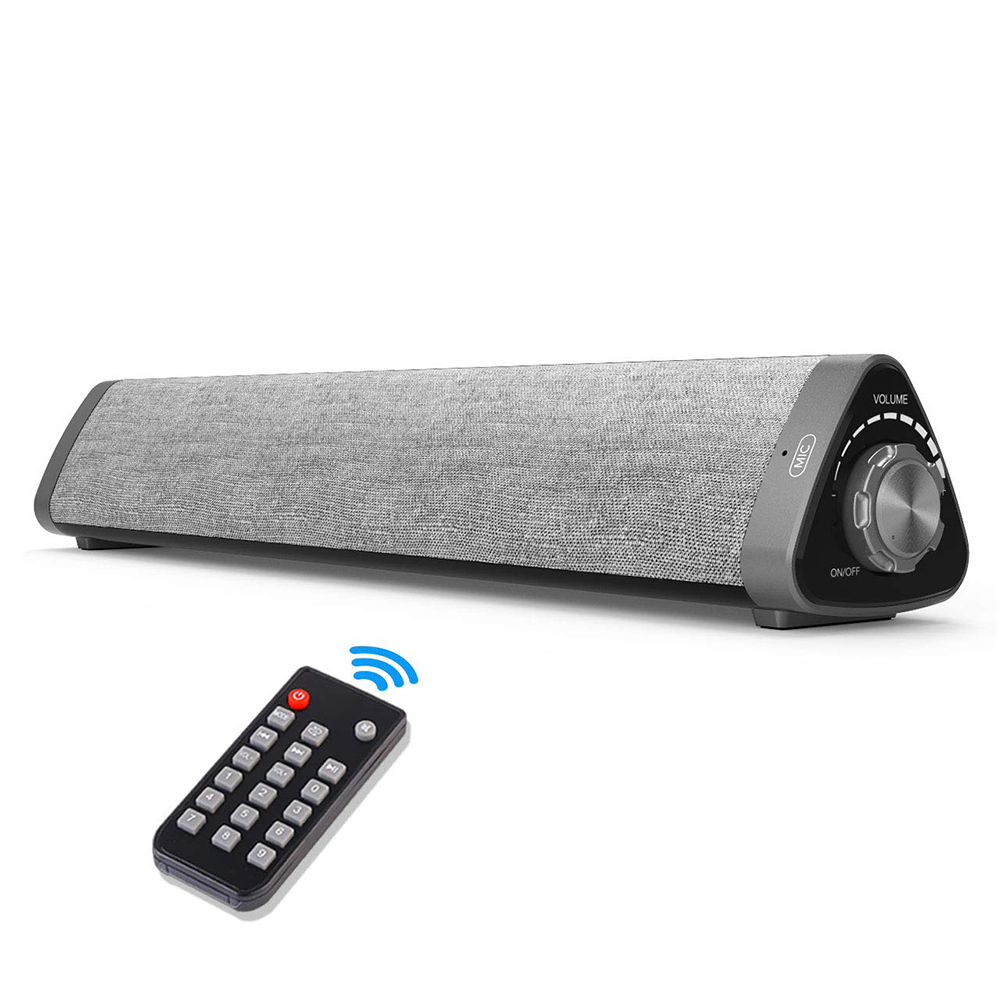Wired /& Wireless Soundbars for TV//PC Home Theater Sound bar with Built-in Subwoofers for Phones//Tablets Grey Outdoor//Indoor Bluetooth Stereo Speaker with Remote Control