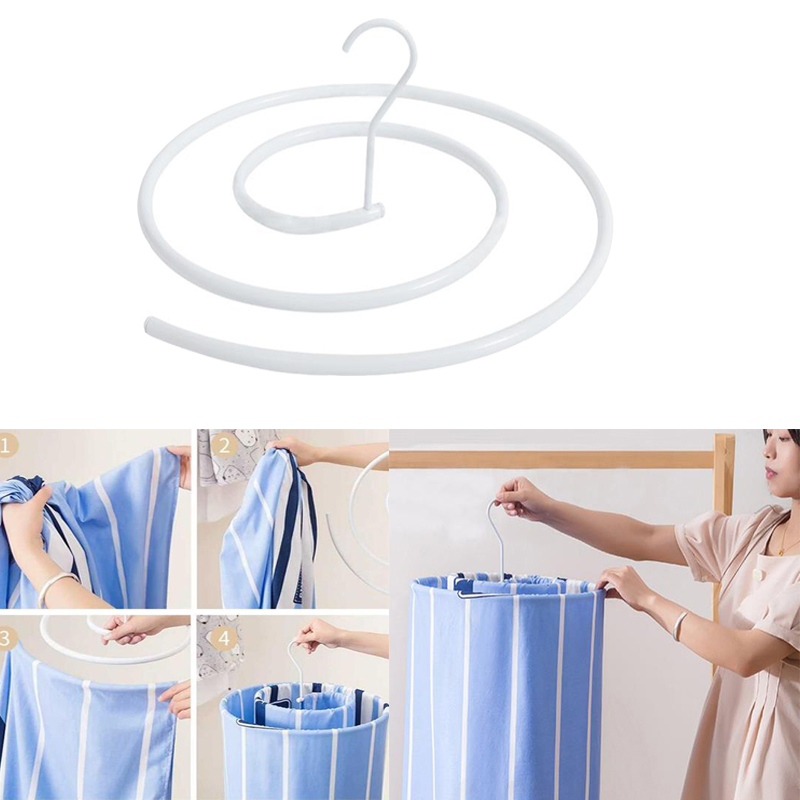 Cloth Hanger For Home Bed Sheet Blanket Hook Closet Hanger Circle Clothes Hanger Clothes Drying Racks Home Accessories Supplies