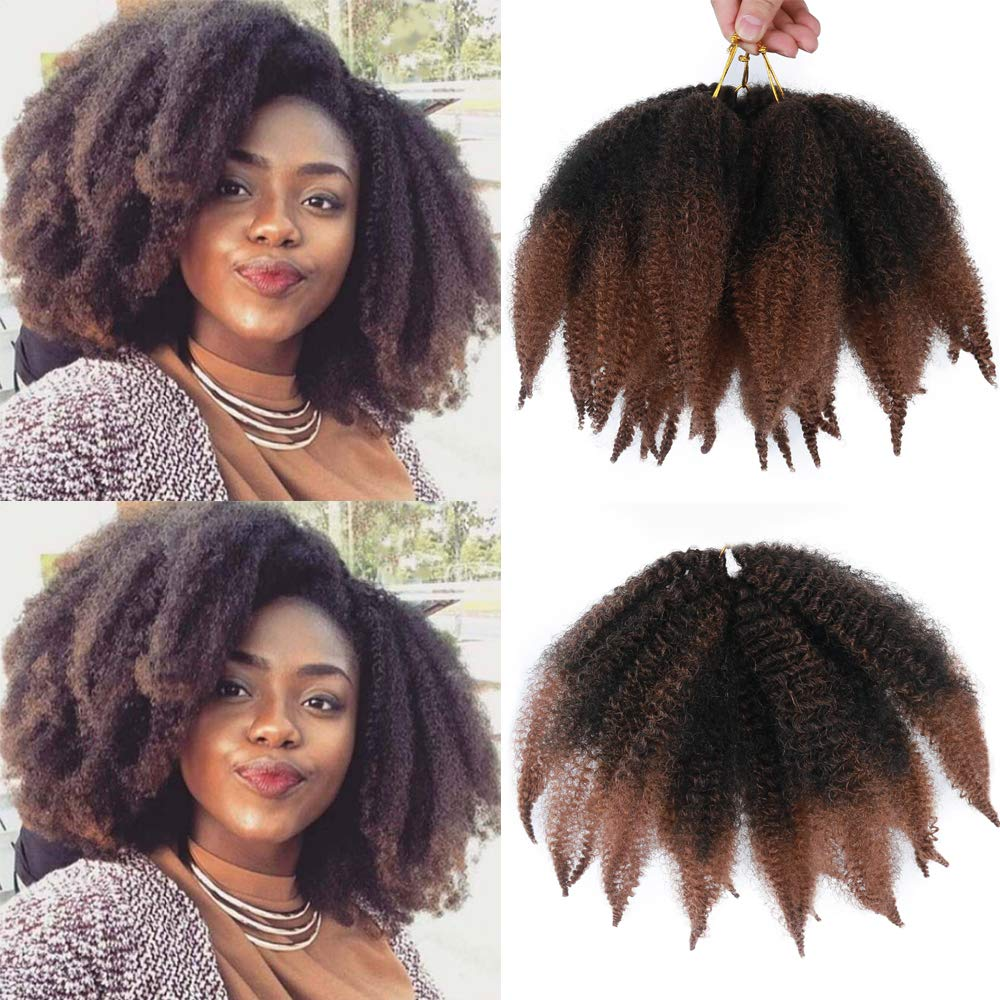 Afro Kinky Twist Crochet Marley Braiding Hair Marley Kinky Crochet Braids Marley Hair 8inch Short Hair Synthetic Hair Extensions