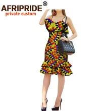 Женские платья в африканском стиле с принтом Анкары повседневные