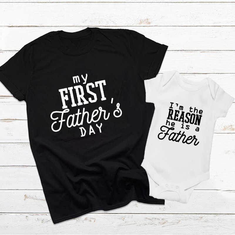1 stücke Vater der Tag Geschenk Erste Vater der Tag Outfit Vater und Baby Shirts Papa und Mich Passenden Baby junge Mädchen Kleidung Familie T Hemd