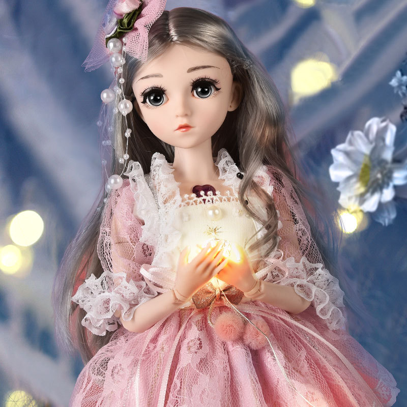 45CM BJD Princess Doll For Girl Toy 26 Movable Jointed Makeup Dress Up BJD Beauty Electric Music Toys For Children Gift Design
