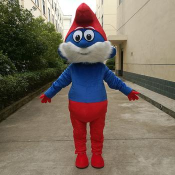 Świąteczny kostium imprezowy niebieskie elfy kostium maskotka dla dorosłych rozmiar maskotki maskotki tanie i dobre opinie Kostiumy Zwierzęta i błędy
