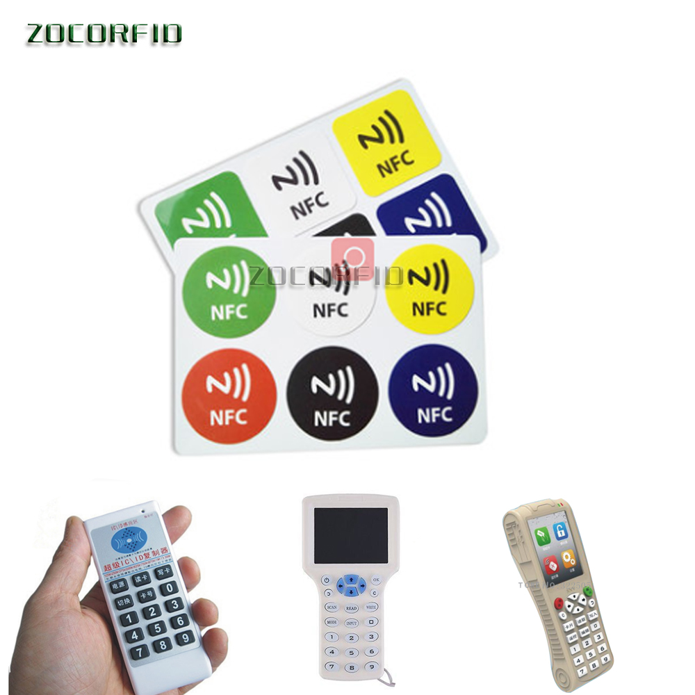 6pcs 13.56MHz UID Changeable Keyfobs Token MF NFC Tag Rewritable RFID Writable Access Control Key Card Used To Copy /Clone Card