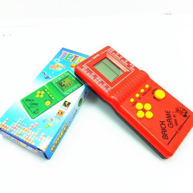 Klasyczny Tetris ręczny LCD elektroniczna gra zabawka zabawa cegła gra Riddle przenośna konsola do gier losowy kolor drop shipping gorąca sprzedaż