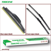 Front And Rear Wiper Blades For Citroen C4 Coupe 2004-2010 Rubber Windscreen Windshield Wipers Car Accessories 28+24+7 cheap toocene CN(Origin) natural rubber 2005 2006 2007 2008 2009 0 3kg clean the windshield TC212 Ningbo China 28+24R