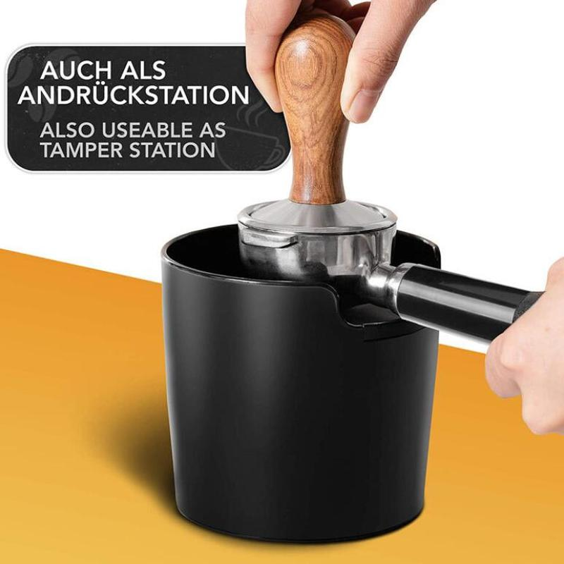 Coffee Powder Residue Box Black Deep Bowl Non-slip Detachable Knock Bar Coffee Machine Grounds Recycling Bucket Grind Trash Bin