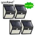 Goodland 100 LED Солнечный Свет наружная Солнечная Лампа PIR датчик движения Солнечный свет настенный уличный свет для украшения сада