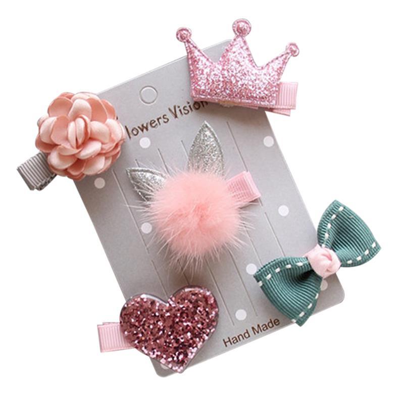 5PCS Dog Hair Clip Creative Decorative Lovely Fashion Pet Hair Clip Pet Headwear
