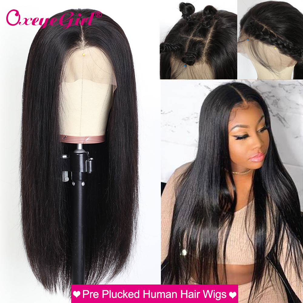 250 Density Lace Wig 360 Lace Frontal Wig Straight Lace Front Wig Pre Plucked Lace Front Human Hair Wigs For Women 13x6 Lace Wig