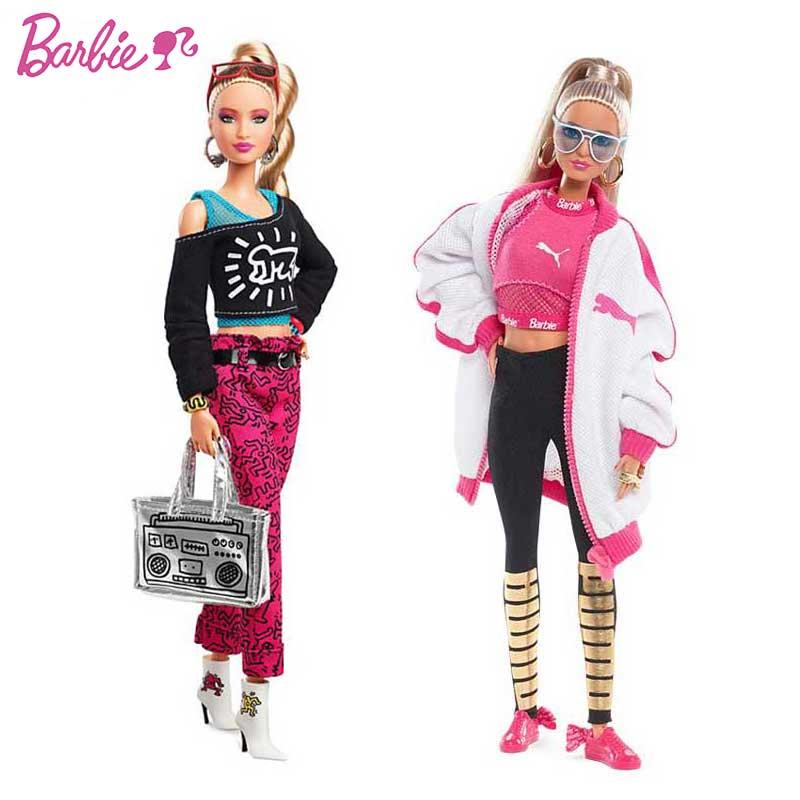 Echte Barbie Sport Mode Jacke Sport Puppe Begrenzte Sammlung Mädchen Spielzeug Mode Joint Sport Stil Geburtstag Geschenk DWF593