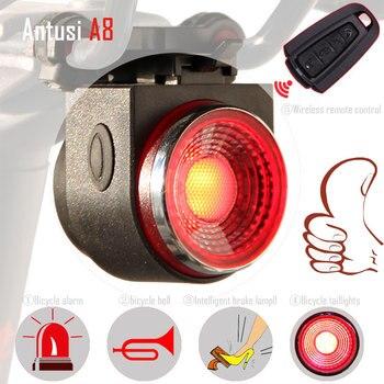 Беспроводная Противоугонная сигнализация remo, велосипедная светодиодная портативная перезаряжаемая задняя фара, велосипедный фонарь, задн...
