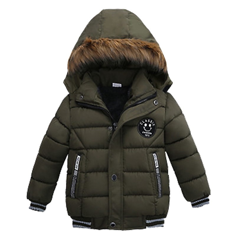 Children's winter down jacket jacket thick Plus velvet warm hooded outerwear 2020hot sale 1-5 Age baby babe boy quality clothing