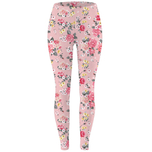 FroMoaSa Women Clothes 2020 Datura Flower High Waist Pants New Rose Flower Print